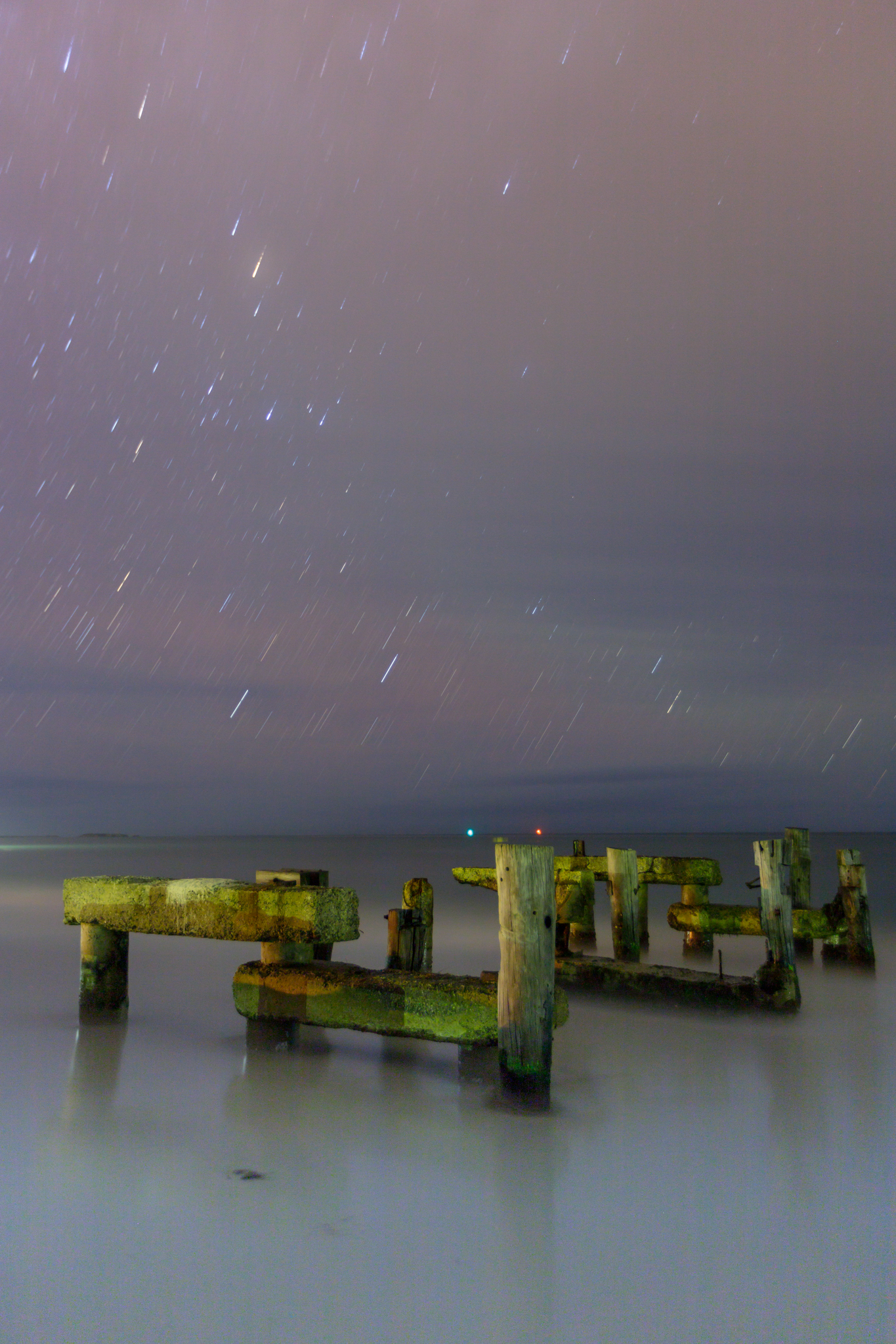 Post image for the old jetty under the stars